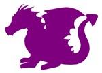 Purple Baby Dragon Silhouette