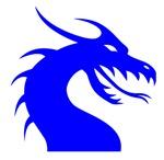 Blue Scary Dragon