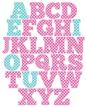 Pink And Blue Alphabet