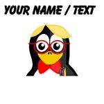 Custom Nerd Penguin