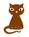 Cartoon Brown Cat