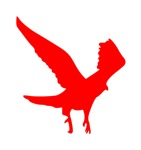 Red Landing Eagle Silhouette