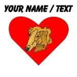 Custom Goldendoodle Heart