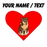 Custom Australian Shepherd Heart