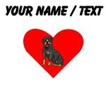 Custom Rottweiler Heart