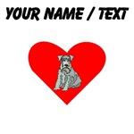 Custom Kerry Blue Terrier Heart
