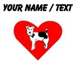 Custom Russell Terrier Heart