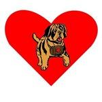 St Bernard Puppy Heart