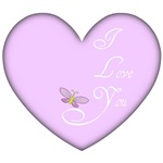 I Love You Heart Butterfly