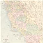 California Map Vintage