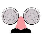 Swirly Eyes Mustache