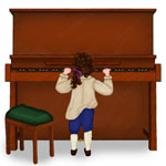 Young Ludwig at the Piano