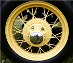 Yellow wheel rim - clothes section
