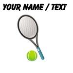 Custom Tennis Racket And Ball