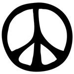 Flowing Peace Sign ~ A freehand interpretation of the venerable peace symbol and a top seller.