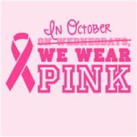 In October, we wear pink