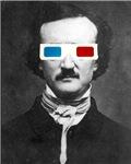 Edgar Allan Poe 3D Glasses Altered Art