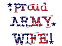 Patriotic Proud Army Wife Tshirts