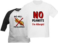 Peanut Allergy T-shirts and Buttons!