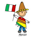 Mexico Ethnic Stick Figure T-shirts and Gifts