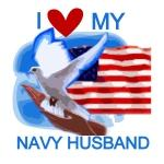 Love My Navy Husband T-shirts and Gifts