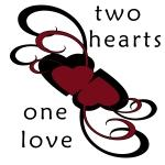 Two Hearts One Love T-shirts and Gifts