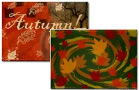 Pretty Autumn Magnets