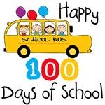 School Bus Celebrate 100 Days