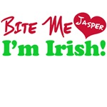 Bite Me Jasper I'm Irish Twilight T-Shirts