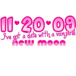 11-20-09 New Moon Date with A Vampire T-Shirts