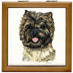 Cairn Terrier Tile Boxes Coasters and Throw Pillow