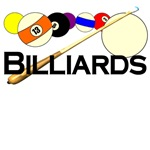 Billiards T-shirts and gifts.