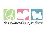 Peace, Love, Coton de Tulear