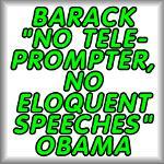 Barack 'no teleprompter' Obama