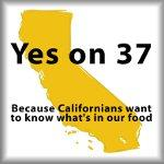 Yes on 37, because Californians want to know what's in our food, pro-propostion 37 merchandise at SmartAssProducts.com