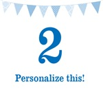 Blue Birthday Pennant