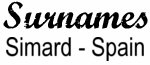 Vintage Surname - Simard - Spain