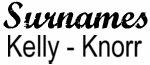 Vintage Surname - Kelly - Knorr
