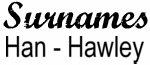 Vintage Surname - Han - Hawley