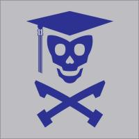 Grad Class Skully (Blue and Orange)