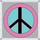 Pink Peace Symbol