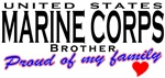 Proud US Marine Corps Brother T-shirts & Gifts
