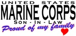 Proud US Marine Corps Son-In-Law T-shirts & Gifts
