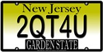 Too Cute For You New Jersey Vanity License Plate