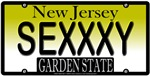 Sexy New Jersey Vanity License Plate T-shirts/Gift
