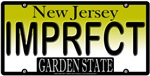 I AM PERFECT New Jersey Vanity License Plate Desig