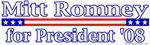 Mit Romney for President 2008 Design