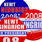 Newt Gingrich President 2008 Buttons & Magnets