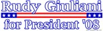 Rudy Giuliani For President 2008 Design