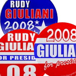 Giuliani For President 2008 Buttons & Magnets